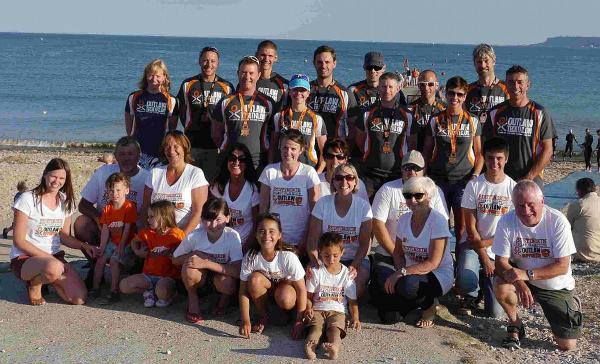 TOP PERFORMANCE: BustinSkin Triathlon Club athletes who took part in the Outlaw Triathlon