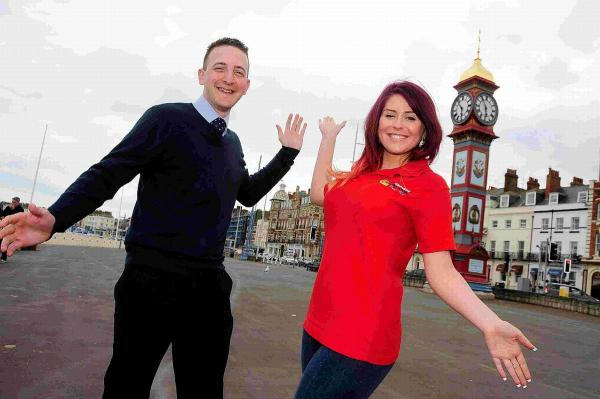 Lee Armstrong and Elysia Munday promote this summer's carnival