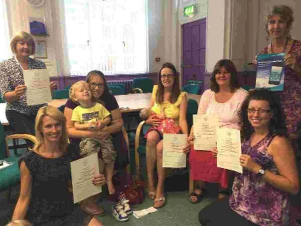 HELPING: Some of the latest wave of volunteers who have qualified as Breastfeeding Peer Supporters
