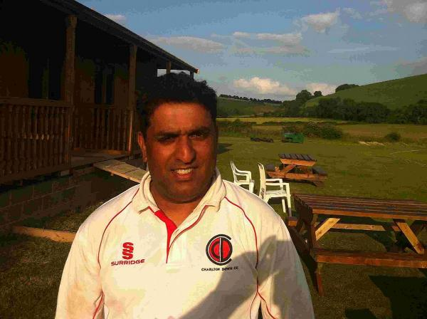 STABILISING PARTNERSHIP: Charlton Down's Javed Gill