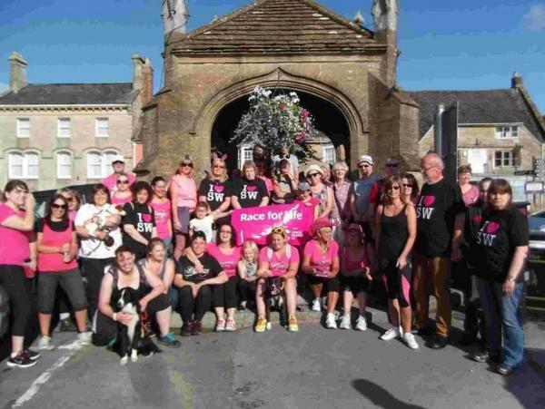 RACE FOR LIFE: Start point of the walk at Beaminster