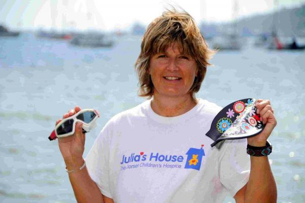 GOOD CAUSE: Charity swimmer Andrea Hawkins at Sandsfoot Beach