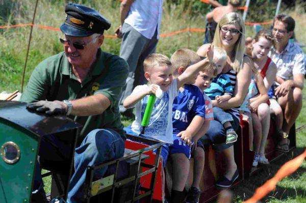 Train ride at Littlemoor Fun Day