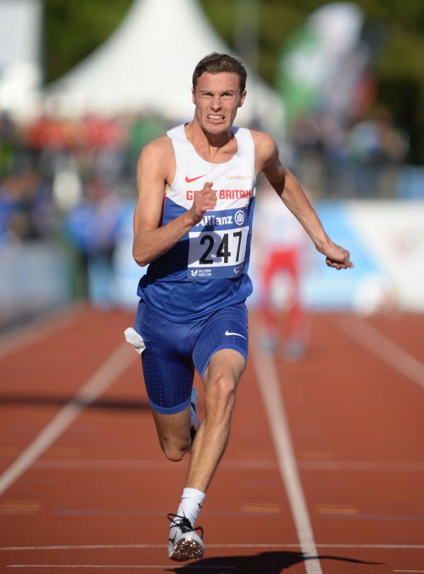 BRONZE MEDAL: Dorchester athlete Paul Blake in Swansea. Picture: Chris Vaughan