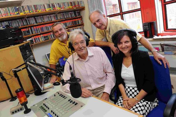 SUPPORT: From left,  presenter Mark Blackford, Alistair Chisholm, president of Ridgeway Radio, presenter John Shepherd and Debbie Cummins from Cummins Accounts and Tax Advisors