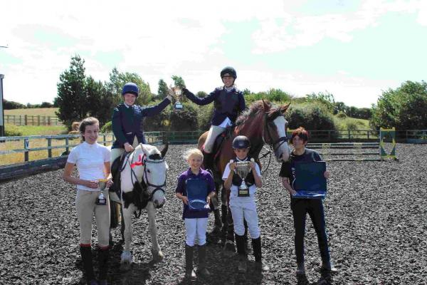 RIDING HIGH: Phoebe Baker, Alice Compton, Anna Barker, Molly Frampton, Finley Wyatt and Lianne Maguire
