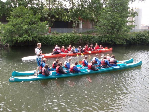 Wey Valley students take to the water