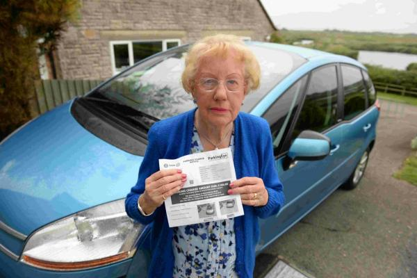 CONFUSED: Rita Rabbitt with her £100 parking fine