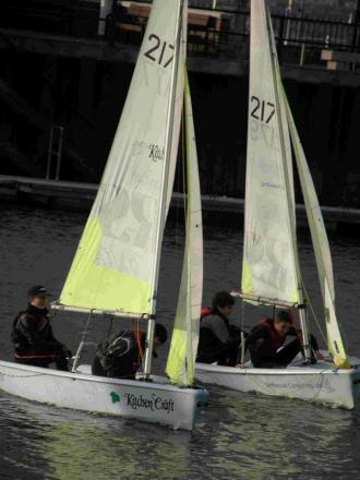 ENJOYING FRIDAY NIGHTS: Weymouth Sailing Club cadets