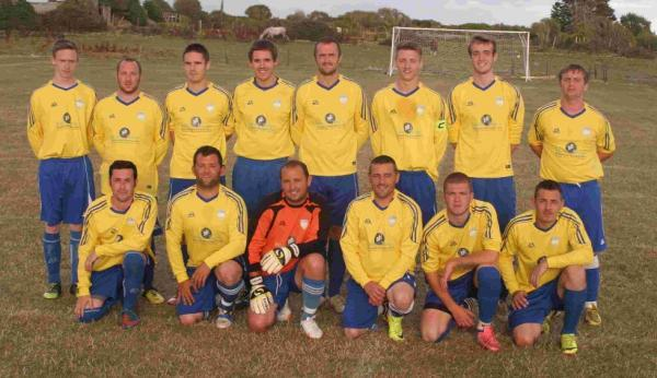 ISLAND SHOW: Portland Town's  A team Bankes Cup squad. Back row, left to right: Connor Anstey, Brandon Middleditch, Colin Russ, Mike O'Donovan, Ben White, Luke Moorley, Edd Barber, Liam Gould. Front: Gary Woolf, Shane Maguire, Kieren Espley, James Dunca