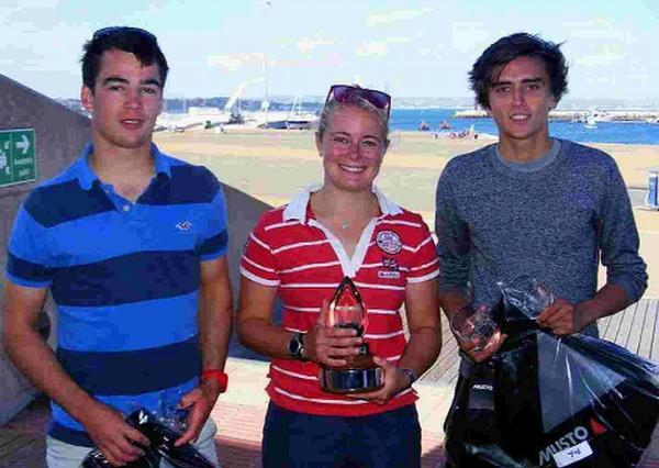 CHAMPIONS: Tim Gratton, Annabel Vose and Matt Wallis
