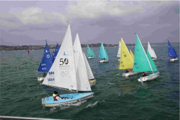 HANSA HOOT: The Hansa boats enjoying the conditions