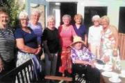 Shelagh celebrates with fellow members of the Dorchester Inner Wheel