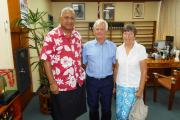 Peter and Margaret Long meet up with Fiji's newly elected Prime Minister, Voreqe Bainimarama, and receive his full support.