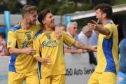 TROPHY JOY: The Terras will now face Cray Wanderers