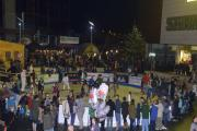 Crowds enjoy festive entertainment at Brewery Square