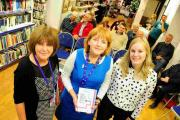 TALK: Pat Blake, shop manager, and Ros Fry, legacy manager, with Dr Hayley Frend