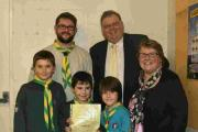 Hand in Hand Lodge of Odd Fellows Dorchester help Scouts