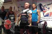 RECORD-BREAKER: Nigel Orme dead lifts at the Push Pull Championships