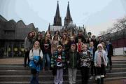 FESTIVE: The pupils in Cologne