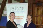 Sheila Maycock, left, with Alison Lesley-Smith receiving the national Relate Hero award