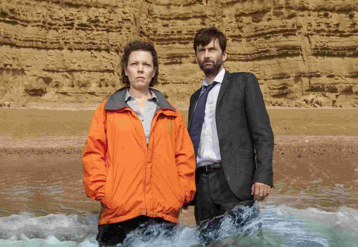 David Tennant as DI Alec Hardy and Olivia Colman as DS Ellie Miller