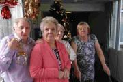 SHOCK: Tenants up in arms after Christmas decorations removed. From left, George Newton, Rosemary Garrington, Thelma Carr and Pat Swales