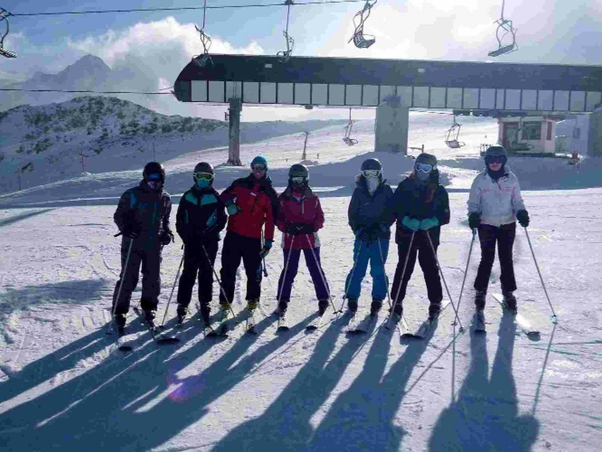 PROGRESS: Skiers from Wey Valley on their overseas trip