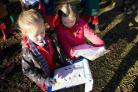 FUN: Children at The Orchard during Birdwatch Week