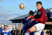 ADAPTABLE: Weymouth defender Calvin Brooks, right