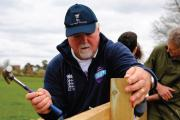 MUCKING IN: Former England skipper Mike Gatting