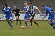 SURGING RUN: Bradley Tarbuck on the front foot against Redditch on Saturday