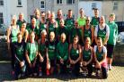 Royal Manor of Portland Athletics Club put on their running shoes for world record attempt