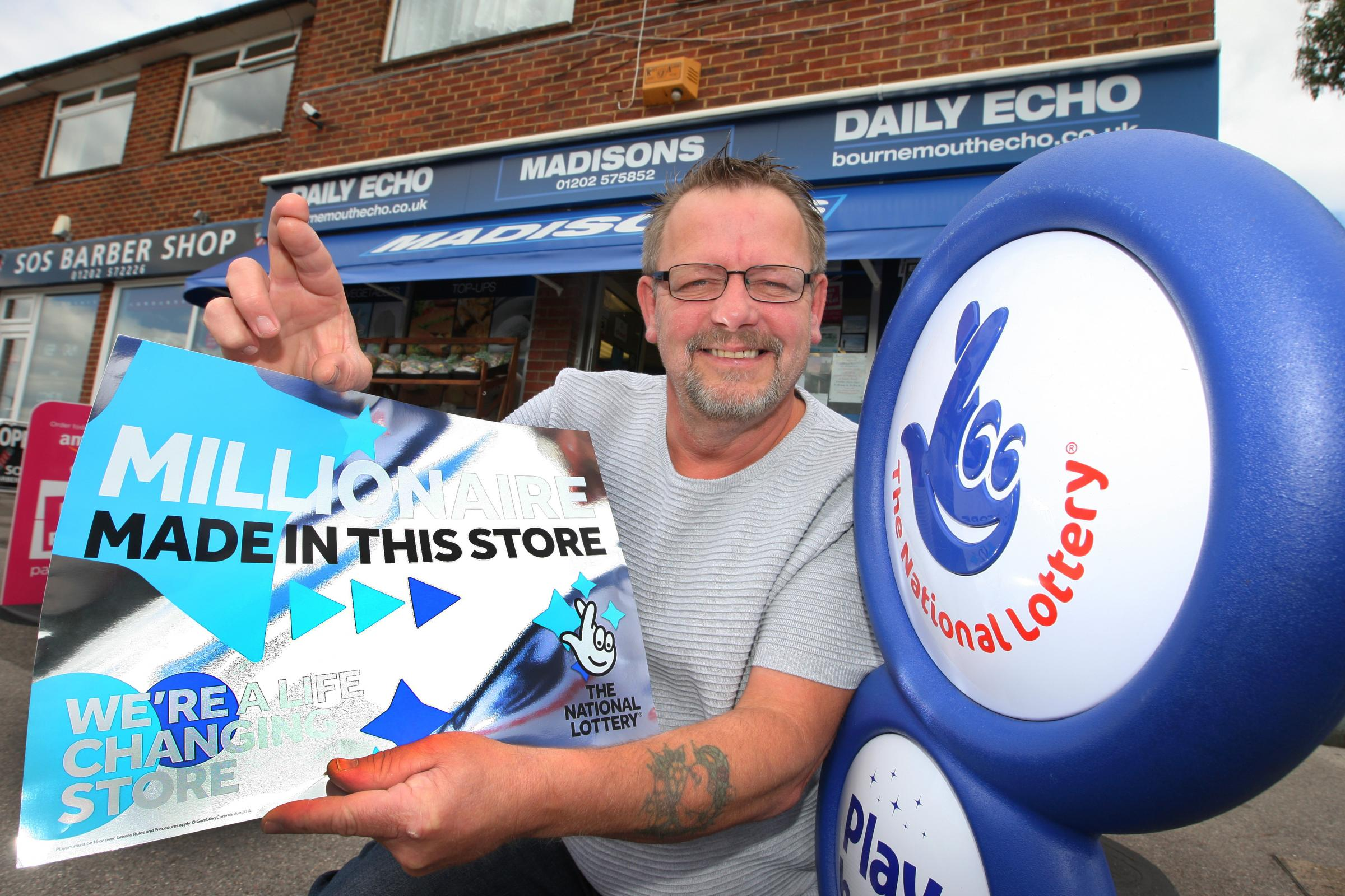 Ian Brough, owner of  Madison's convenience store in Bearwood
