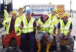 TEAM CLEAN: The salvage workers who have been helping clear West Dorset beaches