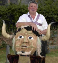 WELCOME BACK: Alan Cheeseman of the Wessex Morris Men with the Ooser at Melbury Osmond
