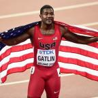 Dorset Echo: Justin Gatlin won two silver medals at the World Championships