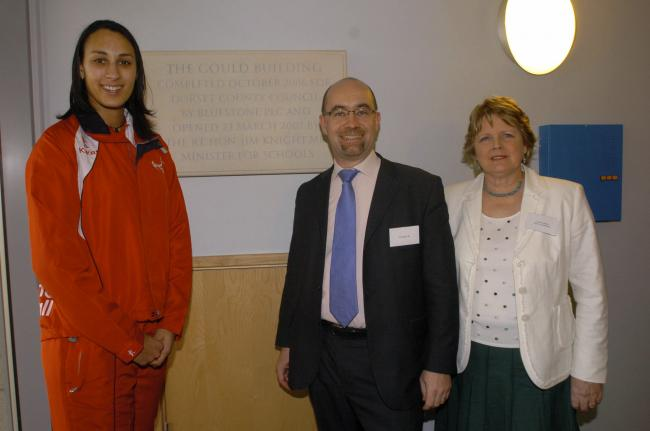 Gould Building: Netball star Geva Mentor, MP Jim Knight and Kathryn Gould open hall
