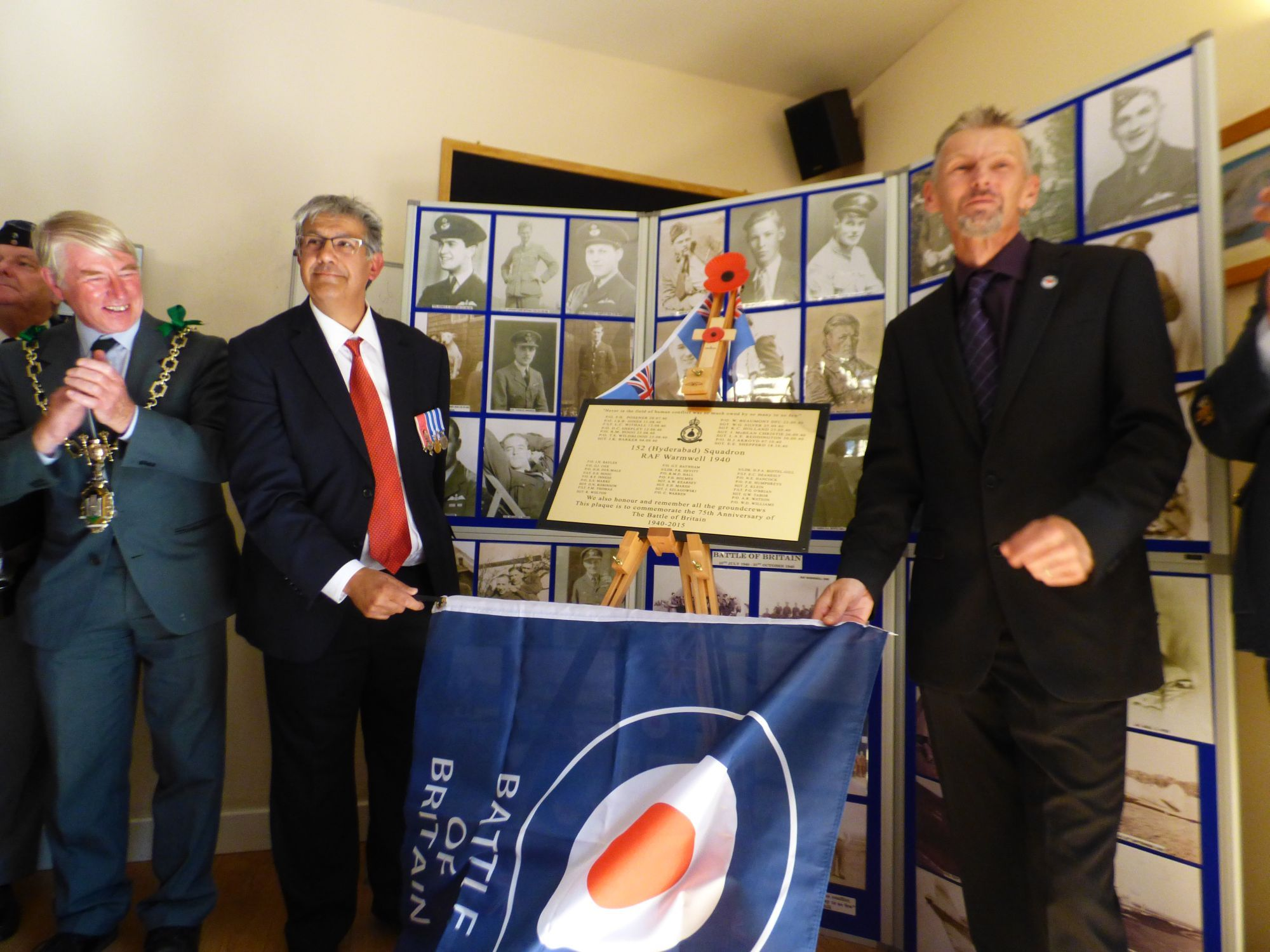 Memorial plaque to Dorset pilots who gave their lives in Battle of Britain unveiled