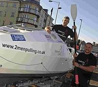 SHIP-SHAPE: Neil Hunter, right and Scott McNaughton get ready for sea trials in their boat