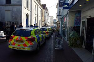 UPDATED: Police called as workmen discover bones in Weymouth town centre
