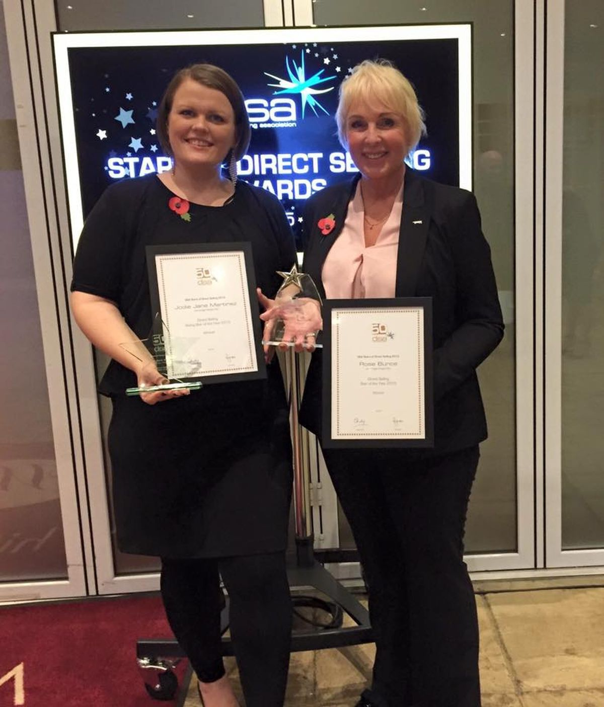 SELLING STARS: Jodie Martinez and Rose Bunce with their Direct Selling Association Star Awards (45717256)