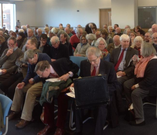 PACKED: The meeting to discuss the Slyer's Lane proposals