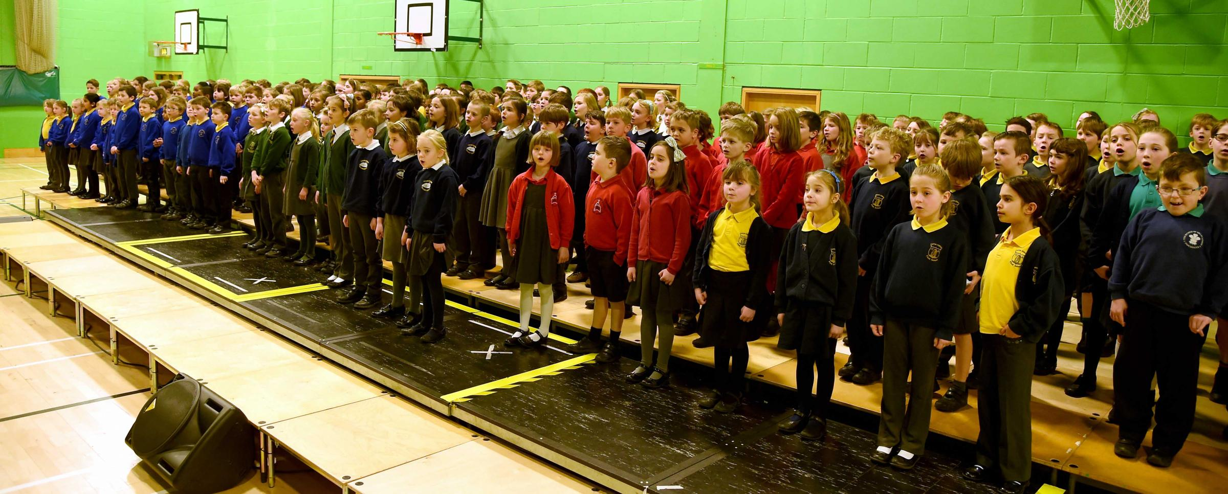 Schools join together for concerts