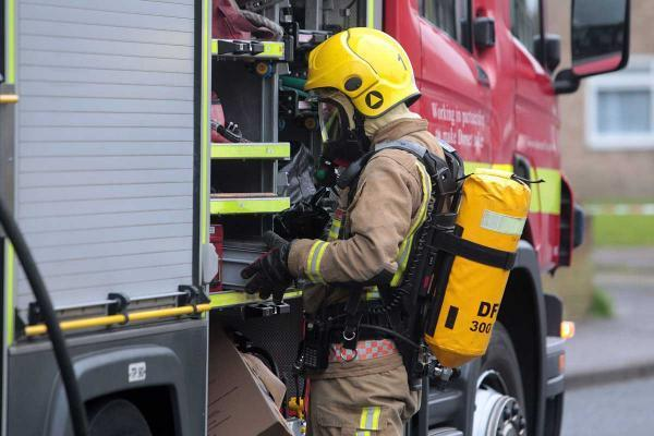 Fire crews were called to Dorchester this morning