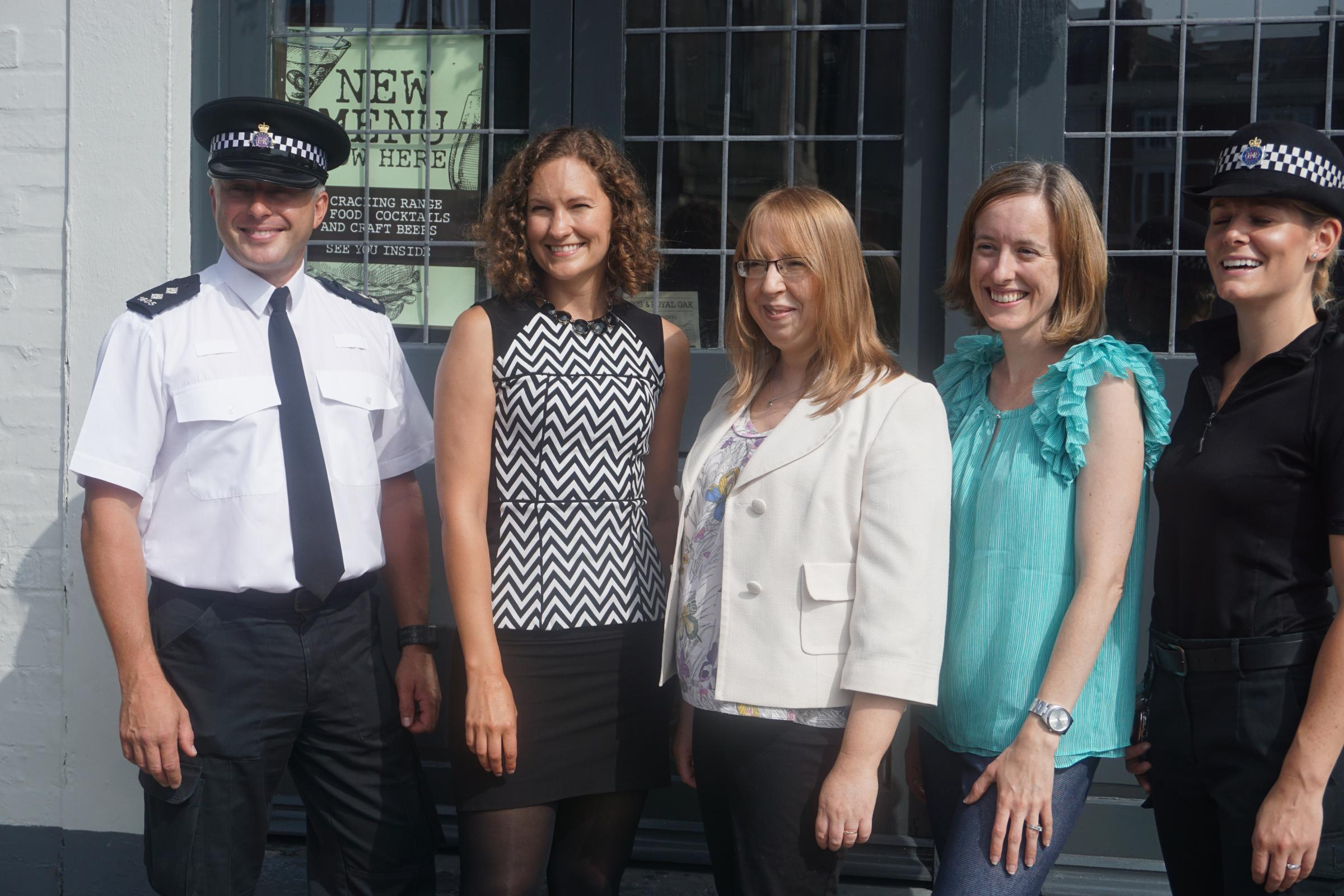 Insp Pete Browning, Dr Katharine Boyd, Dr Hannah Farrimond, Dreoilin Fleischer and PC Holly Damen