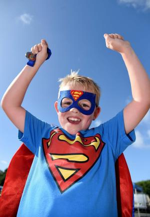 Dorset Echo: Super men, women and children dressed up for Weldmar's first ever superhero fun run. Click to see all the pictures!