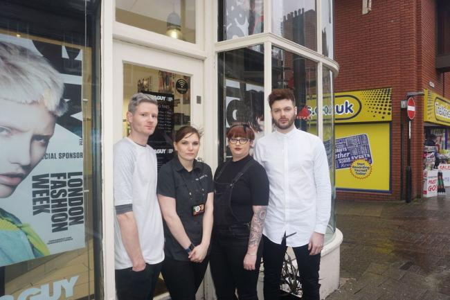 CONCERNS: Some of the shop staff whose businesses were targeted