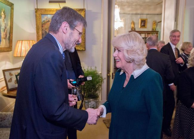 WINE: Ian Edwards from Furleigh Estate meeting the Duchess of Cornwall at the 50th anniversary of the UK Vineyard Association