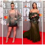 Dorset Echo: Stars show plenty of skin in glitzy red carpet outfits at the Brit Awards
